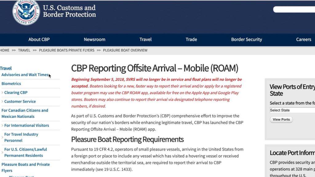 Marina Pescaderia CBP Roam website