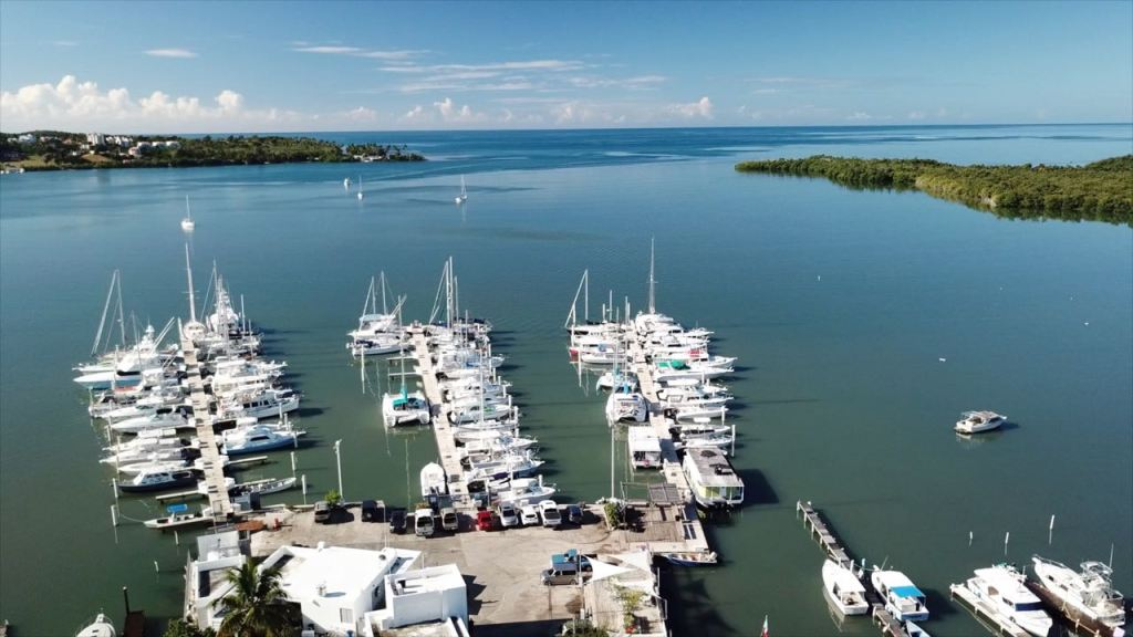 Marina Pescaderia drone looking out
