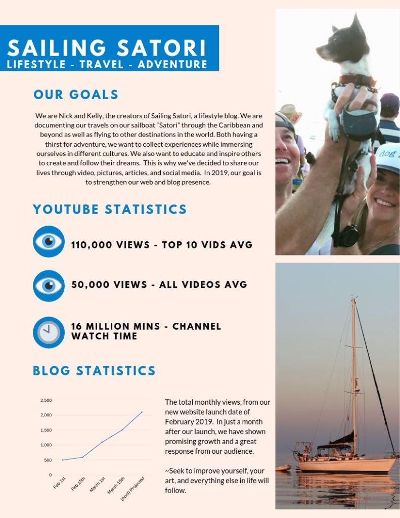 Sailing Satori Media Kit Page 1