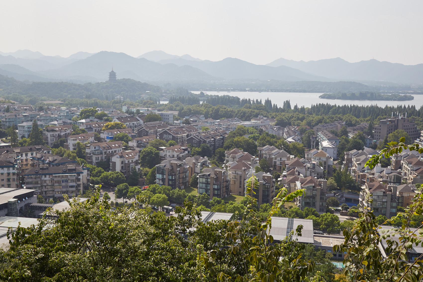 City God Pavilion View Hangzhou