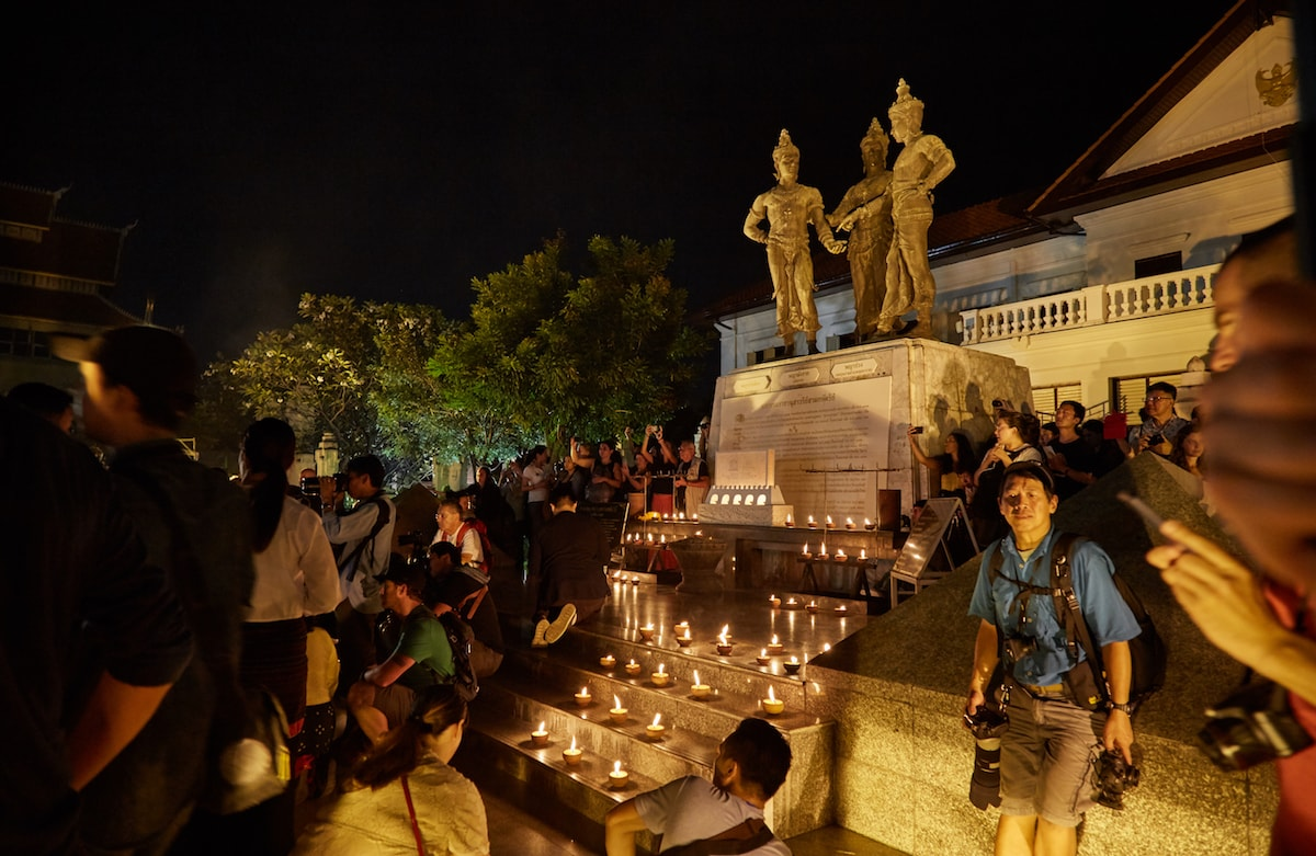 Yi Peng Three Kings Monument Ceremony