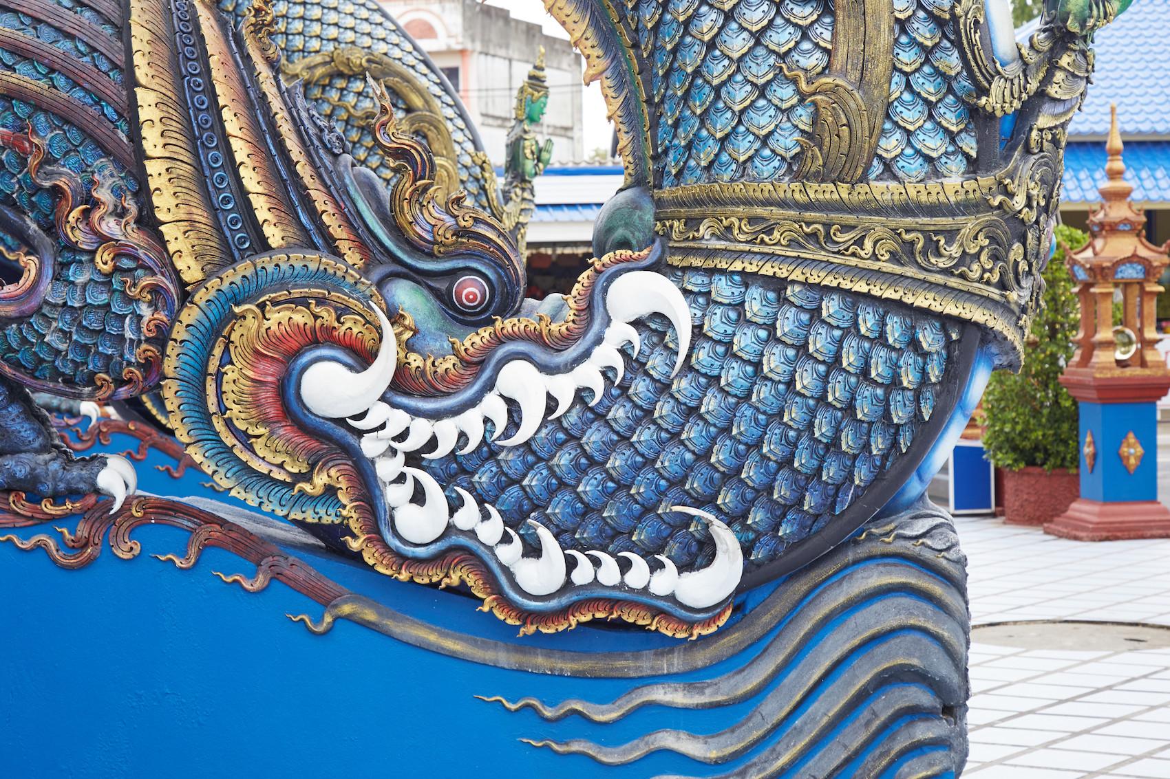 Chiang Rai Blue Temple Naga
