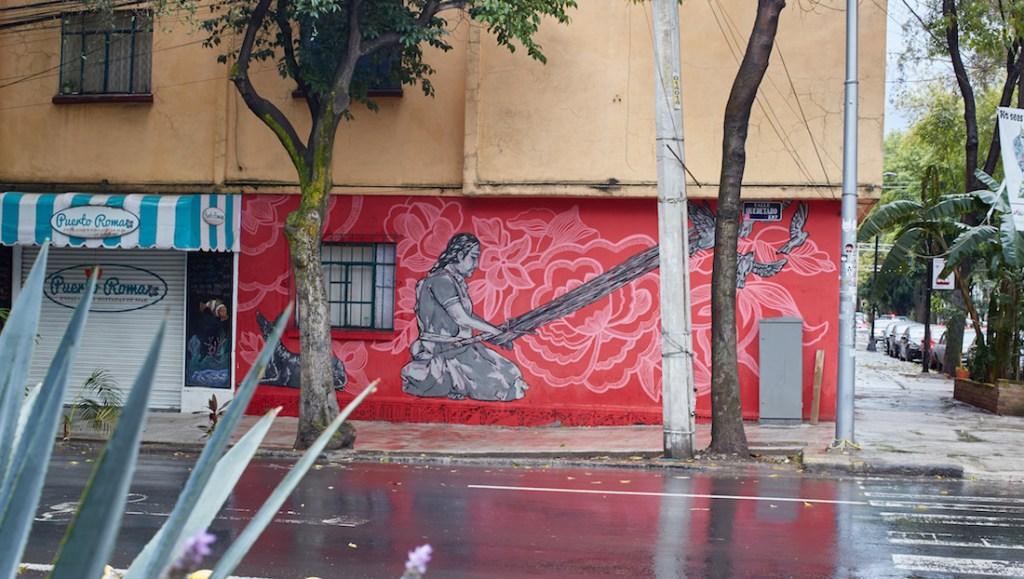 Roma Pink Mural Street Art