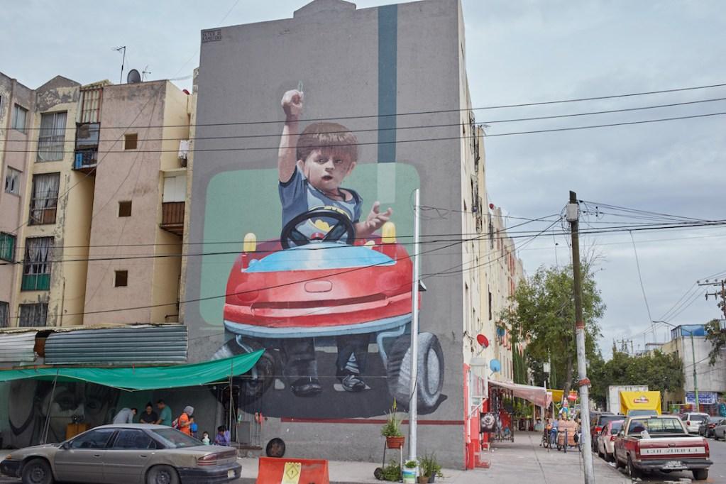 Pino Suarez building mural 3 copy