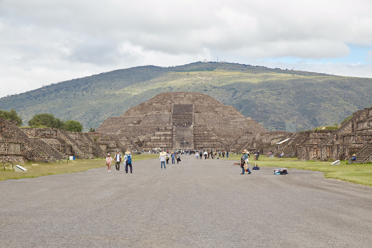 Pyramid of the Sun from Avenue of the Dead