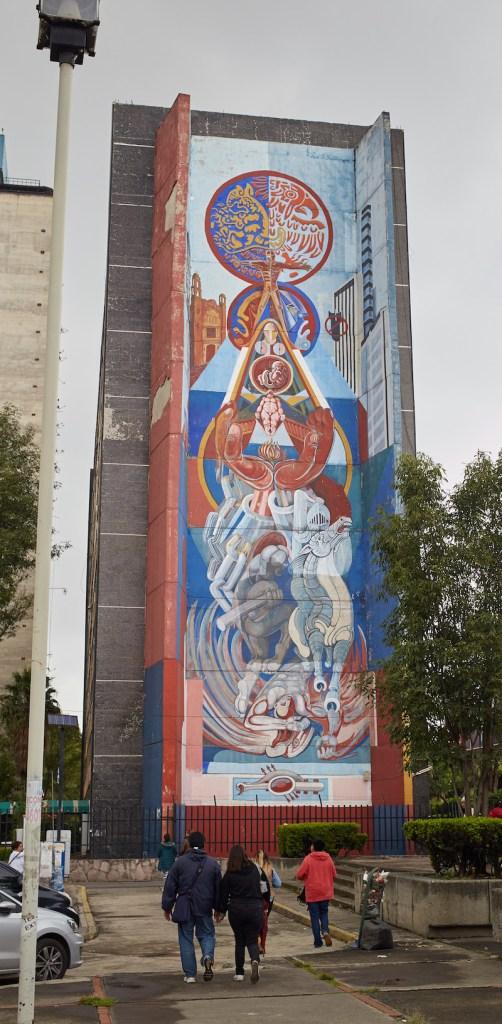 Tlatelolco Tall Mural Mexico City Street Art