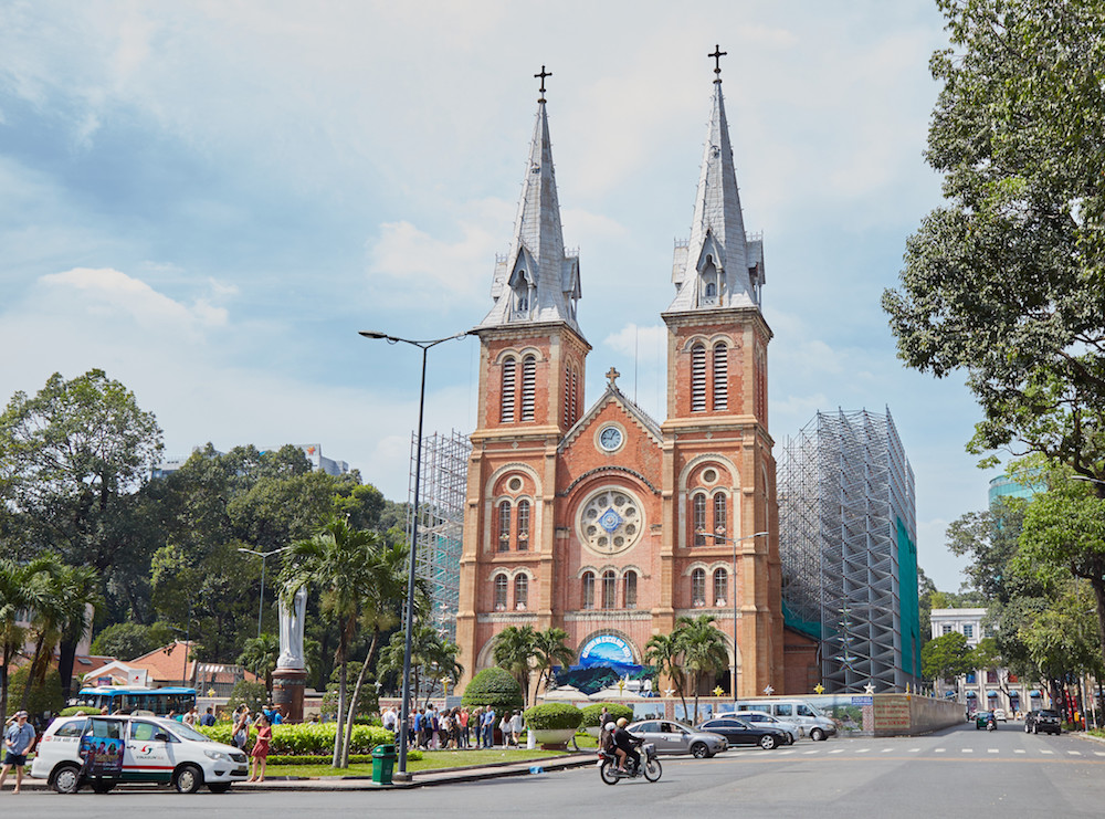 Notre Dame Cathedral Saigon Ho Chi Minh City
