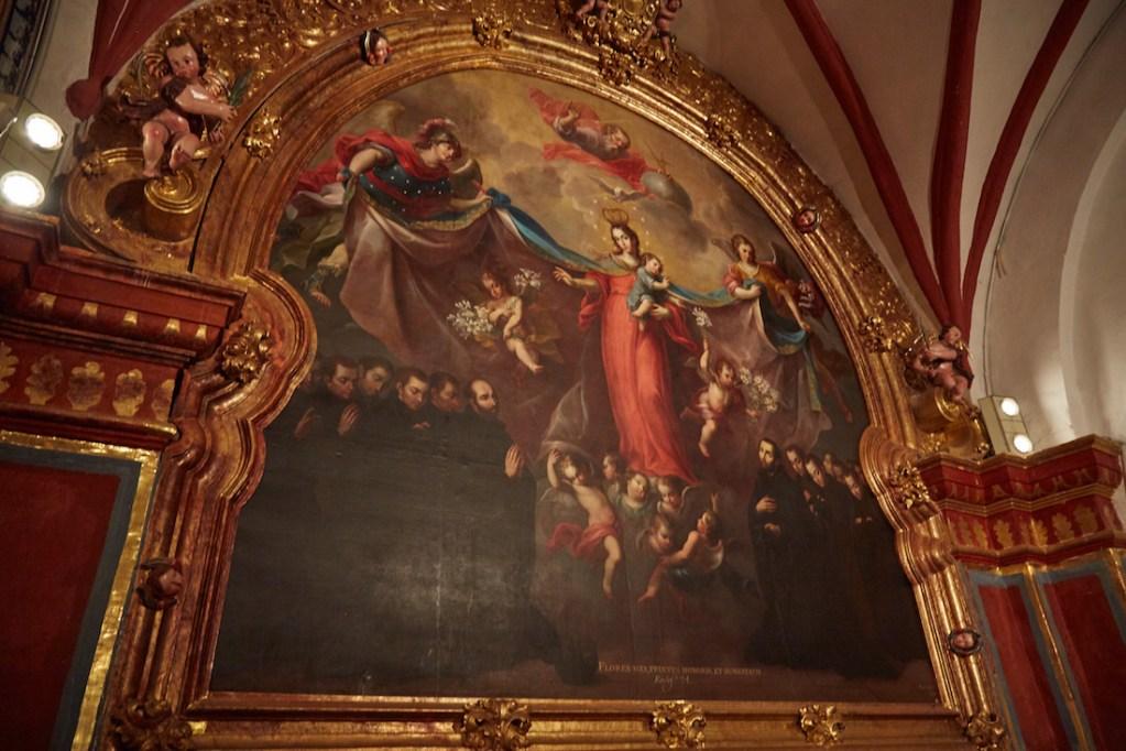 Patrocinio de la Virgen a la Compania de Jesus