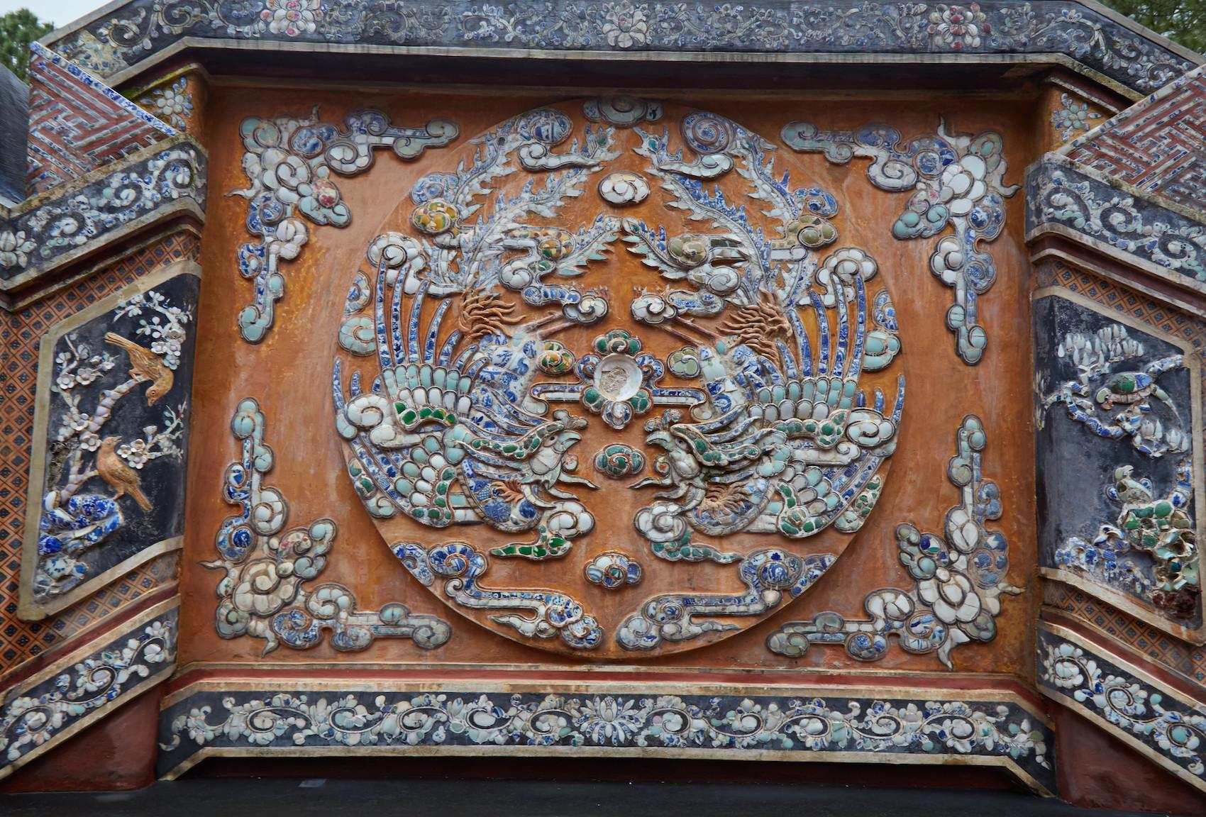 Tu Duc Tomb Phoenix Mosaic