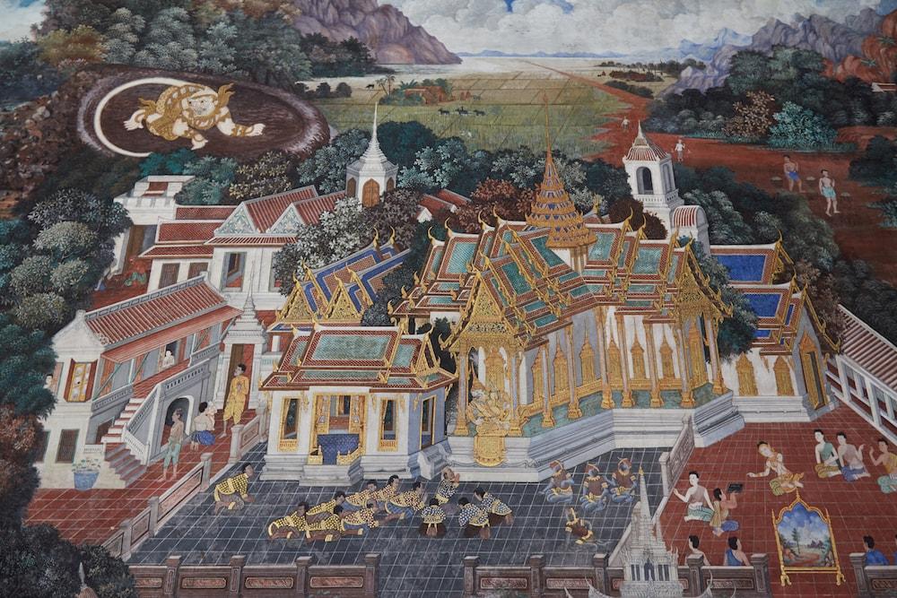 Wat Phra Kaew Ramakien Mural
