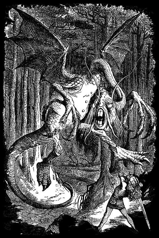 The Jabberwocky (Tenniel)