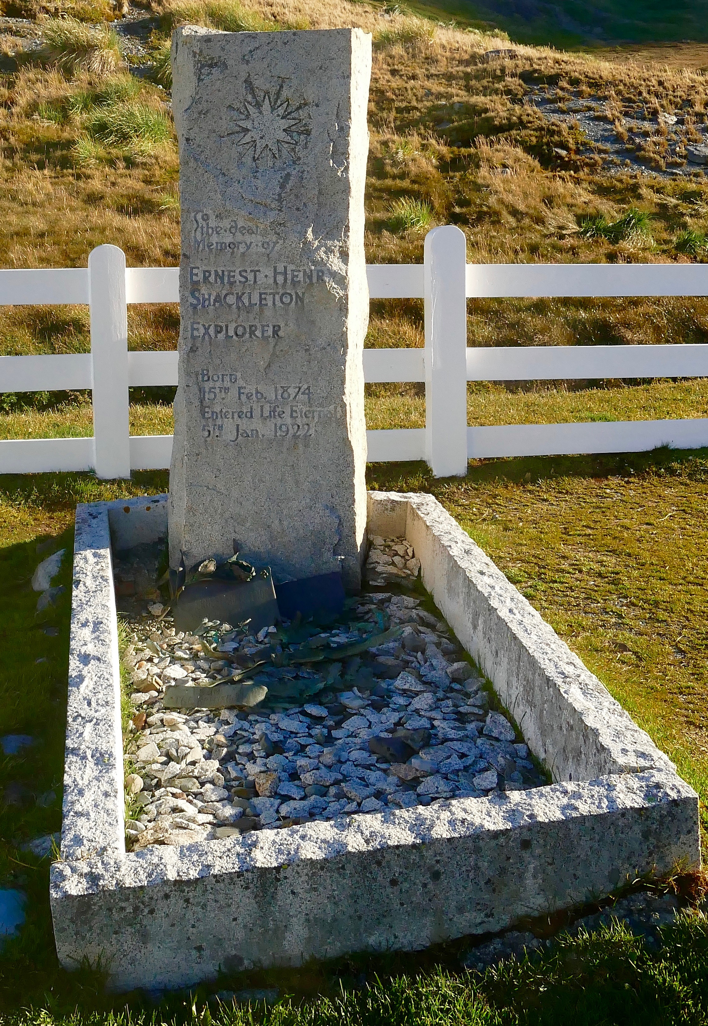 Shackleton - grave at Grytviken