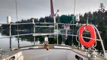 """""""Iridium antenna on the left"""" Photo Ray Penson"""