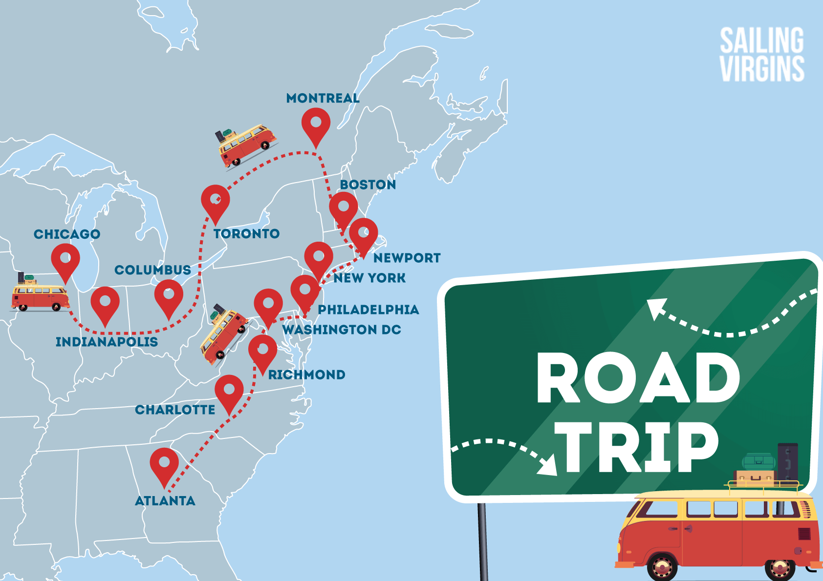 road trip 2018 east coast