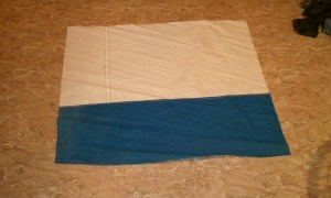 Duffel sail bag step 1