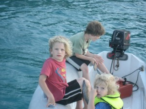 Kids in the Dinghy