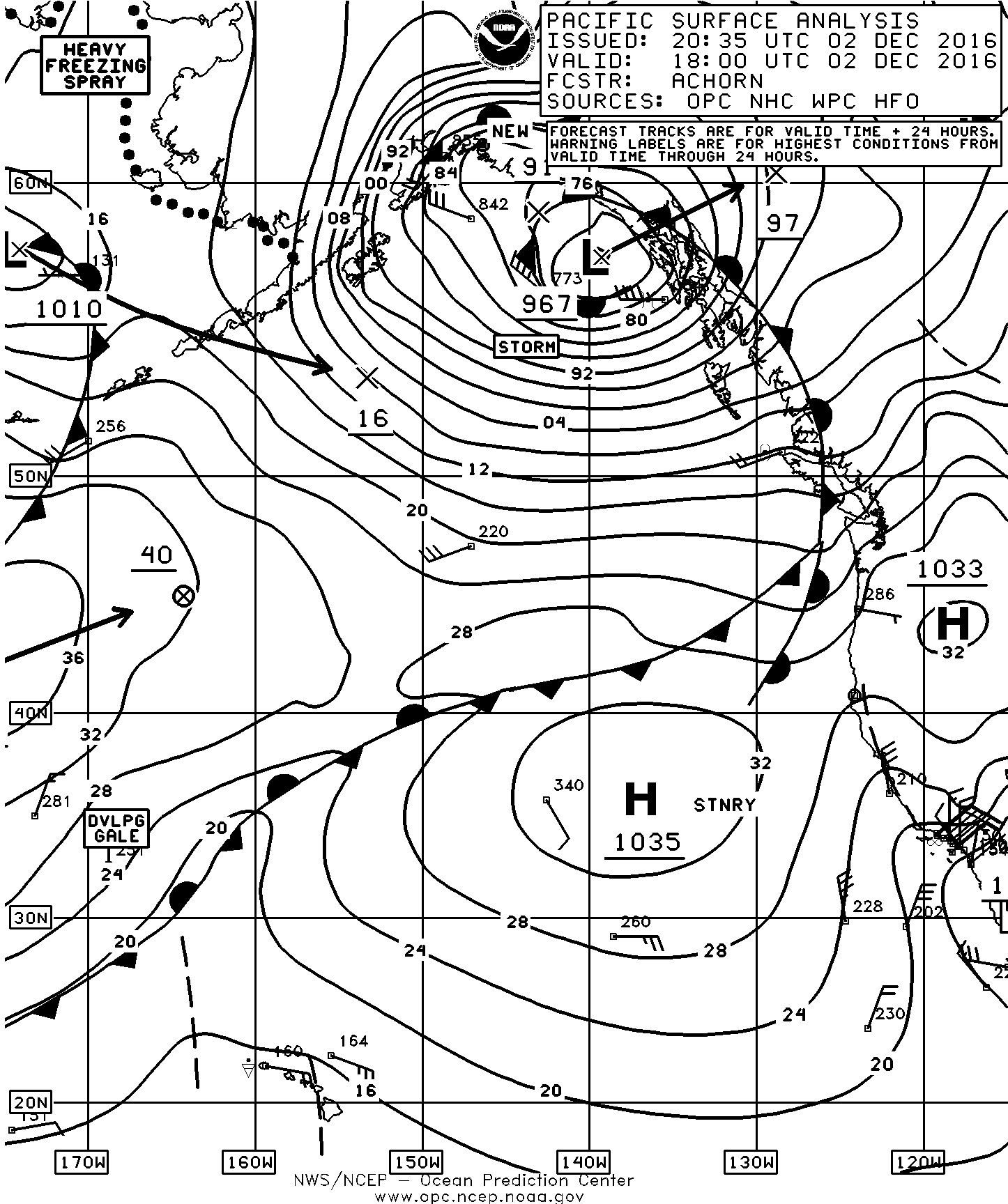 Weather page 7 sailish december 2 surface chart nvjuhfo Choice Image