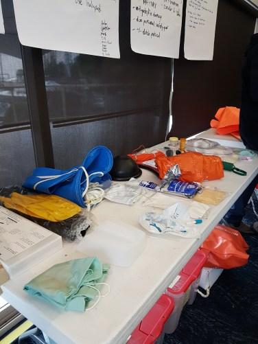 Grab bag safety gear