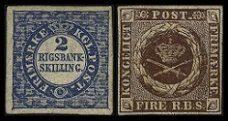 Первые марки Дании