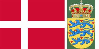 Дания - флаг и герб