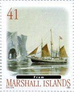 Марка корабль Фрам Маршалловы острова