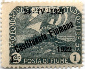 Марка Фиуме 1921