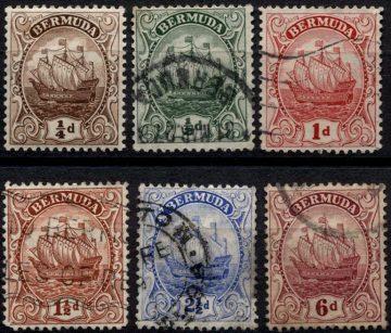 Caravel. Стандартный выпуск марок Бермудских островов