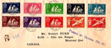 Сен-Пьер и Микелон конверт 1942