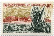 марка Сен-Пьер и Микелон парусник