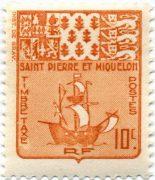 марка Сен-Пьер и Микелон 1947