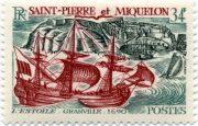 марка с парусником Сен-Пьер и Микелон 1969