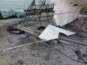 Rudder Removed