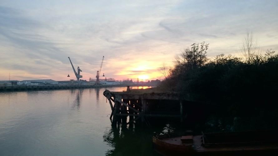 Premier coucher de soleil de l'année 2015 sur la Loire