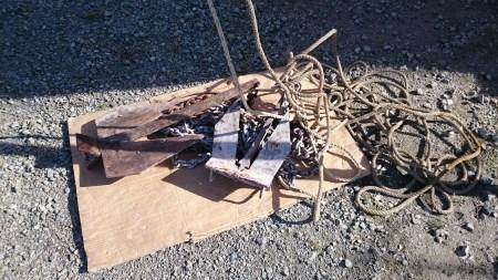 Ancre et chaîne traitées contre la corrosion
