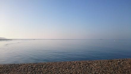 Mer d'huile le lendemain matin