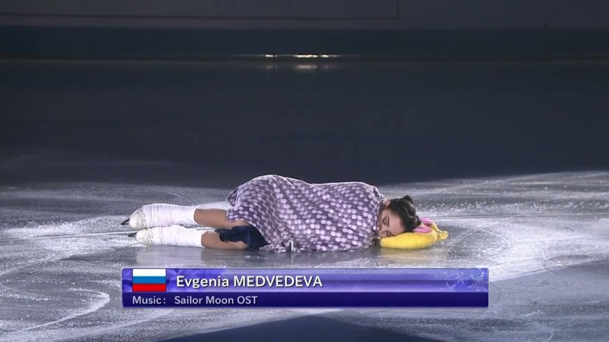Evgenia Medvedeva's Sailor Moon Figure Skating Routine ...