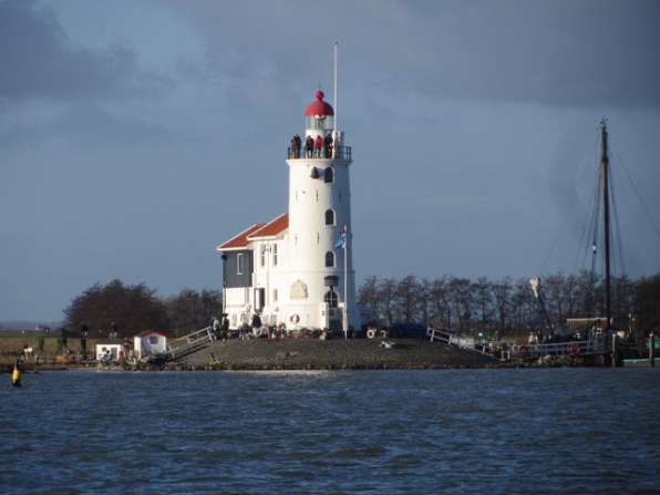"""Back to Amsterdam, passing the lighthouse """"Paard van Marken"""""""