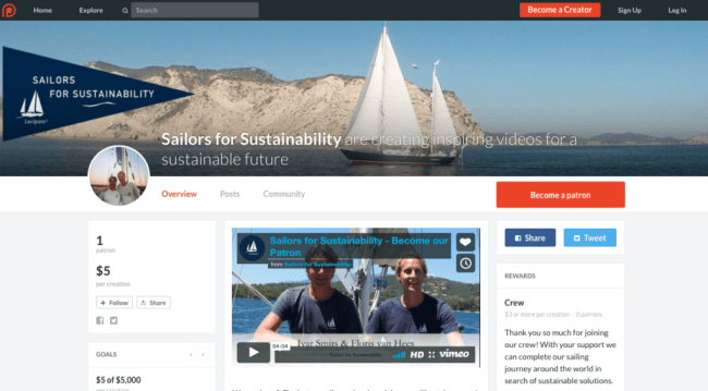 Sailors for Sustainability at Patreon