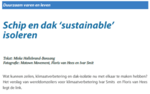Sailors for Sustainability in Het Bestek 184