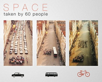 Cycling frees up space in cities