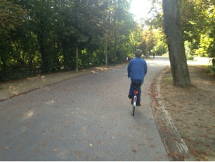 Floris Cycling in Amsterdam's Vondelpark