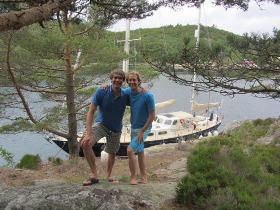 The Norwegian way: mooring alongside a cliff