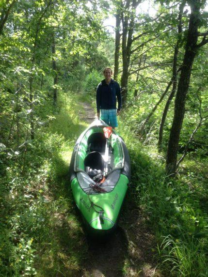 Walking the kayak to the next fjord…