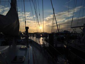 Sunset at Amsterdam Marina