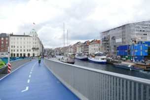 New bicycle bridge in Copenhagen