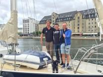 Per and Allan visit us on the boat in Copenhagen