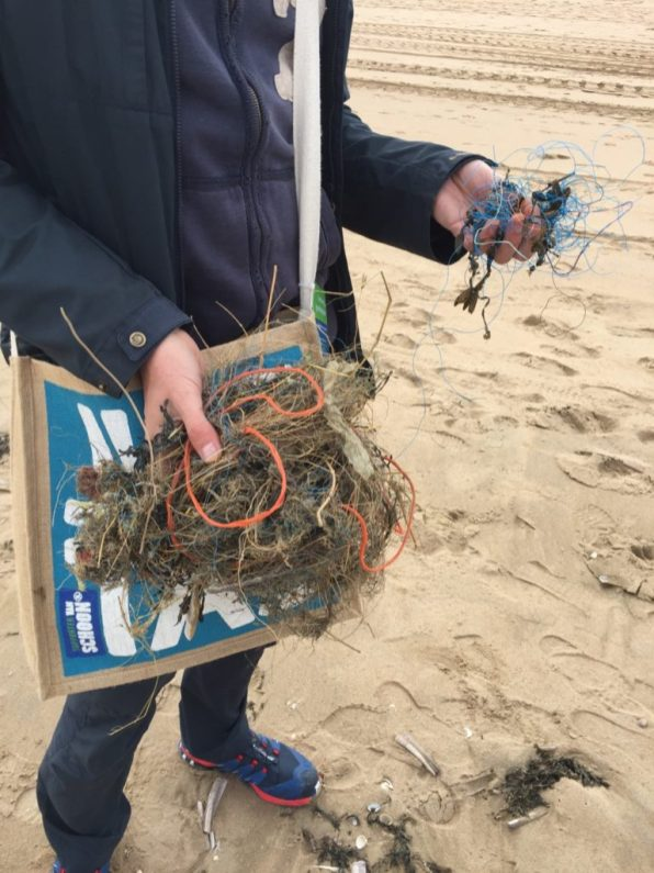 Plastic found on Katwijk beach
