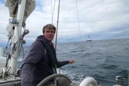 Sailing to Copenhagen, passing Sjælland's Rev light