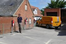 Electric charging stations at Samsø post office