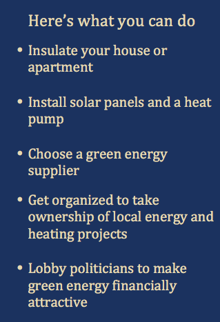 What you can do Energy